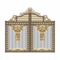 古典欧式铝艺庭院门,释放雍容而华丽的气场-卫朗铝艺