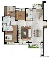 213平米顶层空中豪华复式户型,挑空两层的客厅让奢华无处遁形