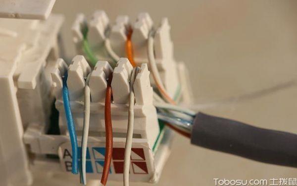 网线插座接法